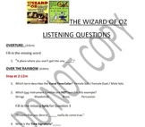 Listening Activity: Musical Theater: The Wizard of Oz