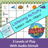 BOOM CARDS Listening Activity: S-V-O Distance Learning