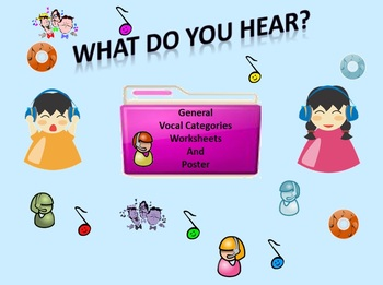 Listening Activity Worksheets: General Vocal Categories an