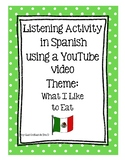 Listening Activity in Spanish using YouTube video, Theme: What I Like to Eat-Méx