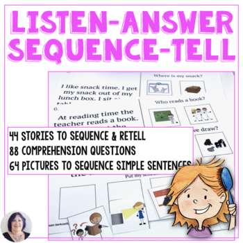 Listening Answering Sequencing Telling Listening Skills for Speech Therapy