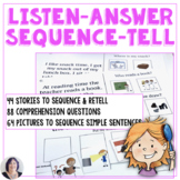 Listening Answering Sequencing Telling Listening Skills for Speech Language