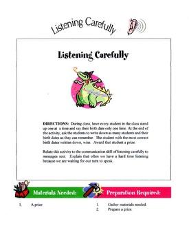 Listening Carefully Lesson