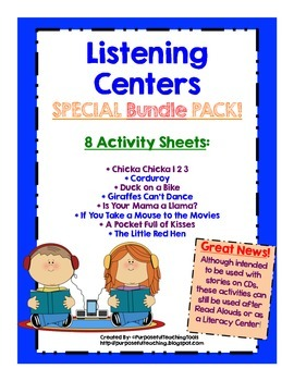 Listening Center Activities Pack - Common Core Literacy Ce