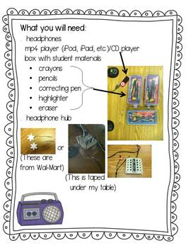 Listening Center Activity FREE: Dictation ~ Short a CVC words and -ck spellings