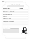 Listening Center Activity Sheet