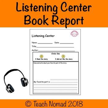 Listening Center Book Report