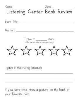 Listening Center Book Review