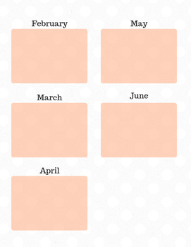 Listening Center Calendar Template-ENGLISH