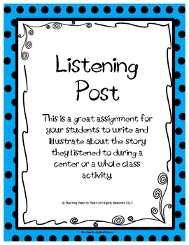 Listening Center Comprehension Check Activity