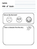 Listening Center Comprehension / Retell Sheet