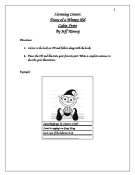 Listening Center: Diary of a Wimpy Kid - Graphic Organizer