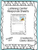 Listening Center Editable Response Sheets
