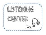 Listening Center Header Poster