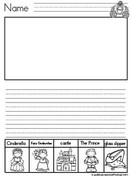 Let's Write! Journal Writing Prompts for Beginning Writers (Kindergarten Bundle)