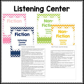 Listening Center Journal Slips