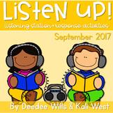 Listening Center: Listen UP!  2017-2018 K and 1st September