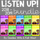 Listening Center: Listen UP!  2018-2019  K and 1st  Year-long SET