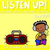 Listening Center: Listen UP!  2018-2019 K and 1st June