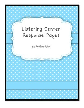 Listening Center Leveled Response Sheets