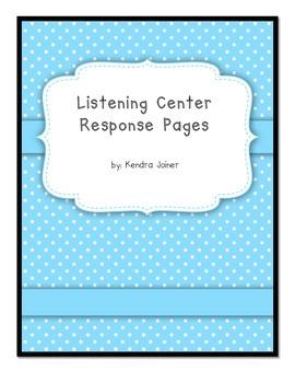 Listening Center Leveled Response Sheets
