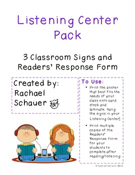 Listening Center Pack for the Classroom