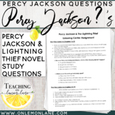 Listening Center Percy Jackson Schedule and Comprehension Questions