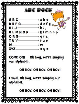 Listening Center Playlist Printables