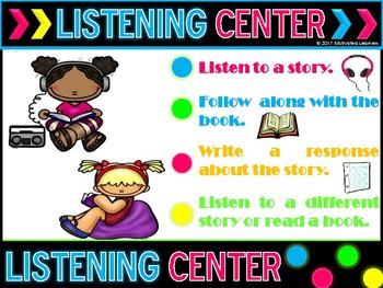Listening Center Poster Freebie