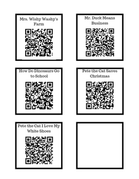 Listening Center QR Codes-ENGLISH