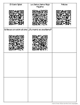 Listening Center QR Codes-SPANISH