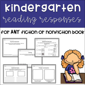 Kindergarten Reading Responses