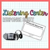 Listening Center Recording Sheet for Kindergarten