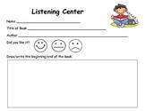 Listening Center Report