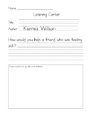 Listening Center Response - Bear Feels Sick by Karma Wilson