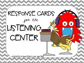 Listening Center Response Cards - Monster Themed