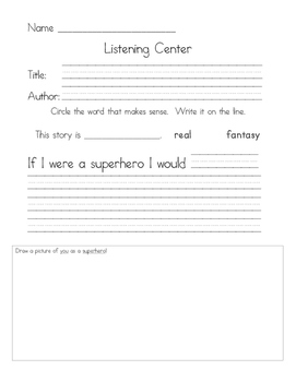 Listening Center Response - Eliot Jones Midnight Superhero