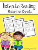 Listen to Reading Response Sheets