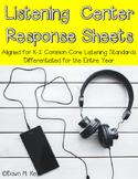 Listening Center Response Sheets~Common Core Aligned