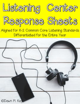 Listening Center Response Sheets~Common Core Aligned