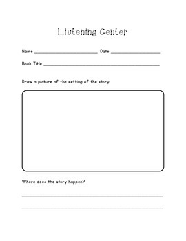 Listening Center Response Packet