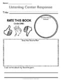 Listening Center Response Sheet  By Teacher's Brain