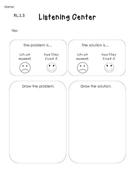 Listening Center Response Sheets-- Differentiated & Common Core Aligned