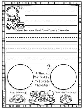 Listening Center Response Sheets {For the Beginner)