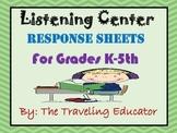Listening Center Response Sheets K-5