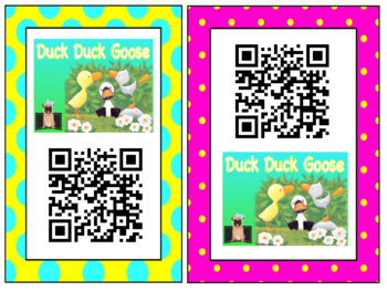 Listening Center Response Sheets + QR CODE: Duck Duck Goose