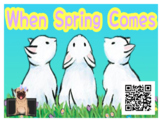 Listening Center Response Sheets + QR CODE: When Spring Comes