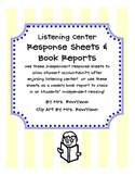 Listening Center Response Sheets and Book Reports