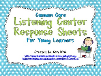 Listening Center Response Sheets for Young Learners