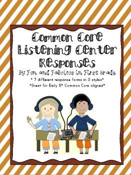 Listening Center Response Sheets/Daily 5